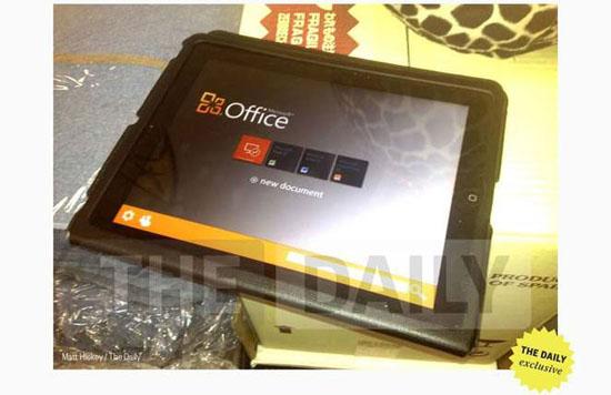 Microsoft Office para iPad para el 10 de Noviembre del 2012 3