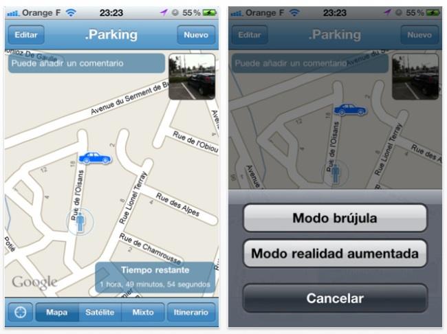 Parking: aplicación para iPhone para no perder el coche 3