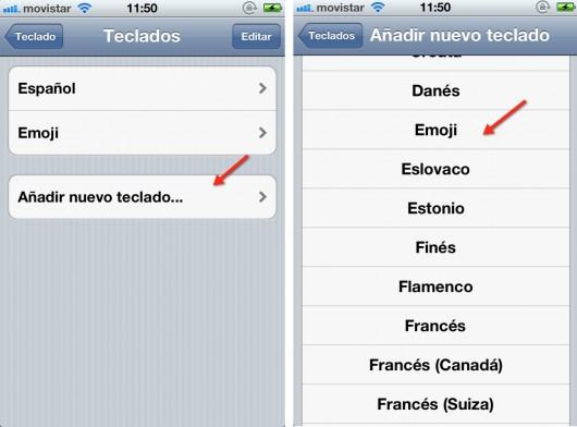 emoticonos teclado iPhone