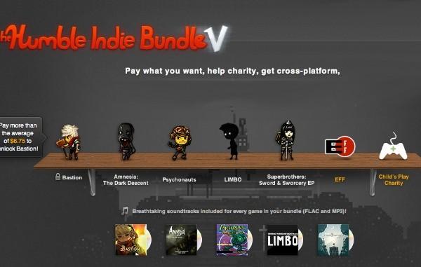 Nuevo pack de juegos al que tu pones el precio: Humblebundle