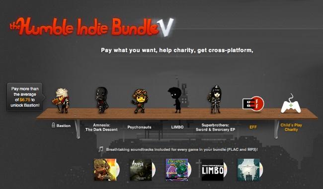 Nuevo pack de juegos al que tu pones el precio: Humblebundle 3