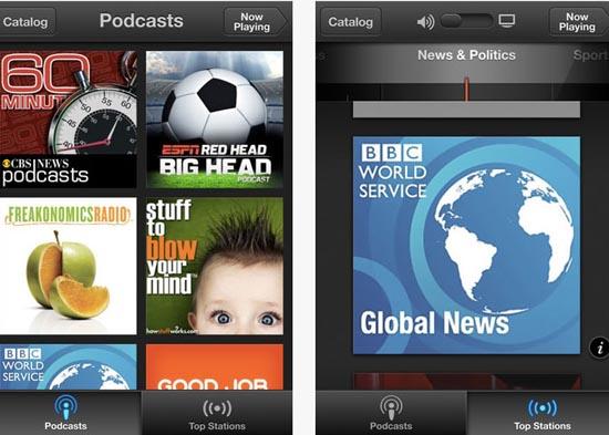 Nueva aplicación para Podcasts de Apple, disponible para iOS 3