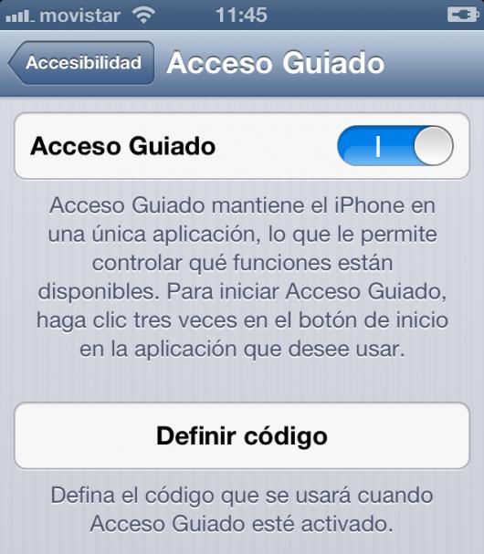 acceso guiado
