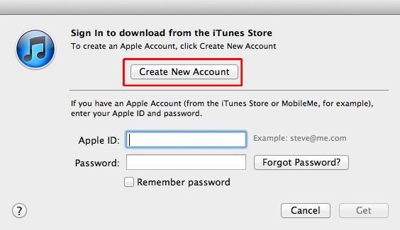 iTunes cuenta