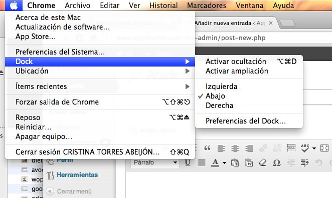 cambiar dock Mac OS X