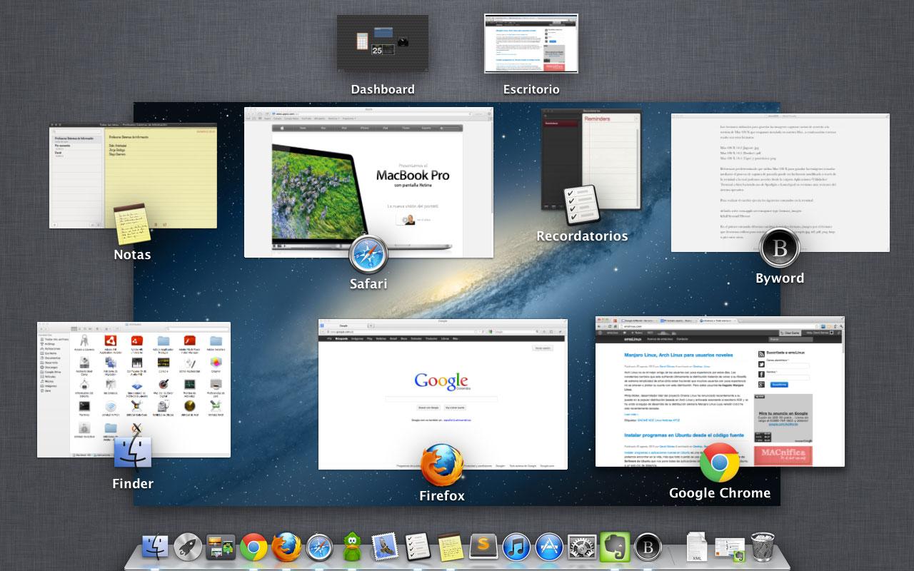 captura pantallas en os x