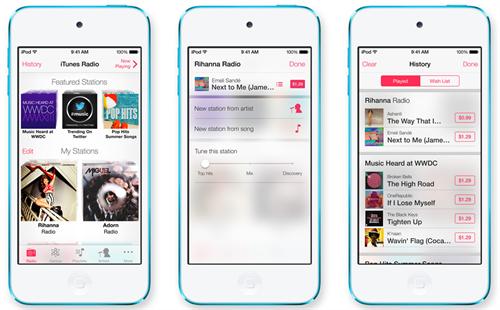 iTunes Radio solo en Estados Unidos en su lanzamiento 2