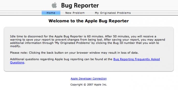 Reporta problemas a Apple con Bug Reporter 2