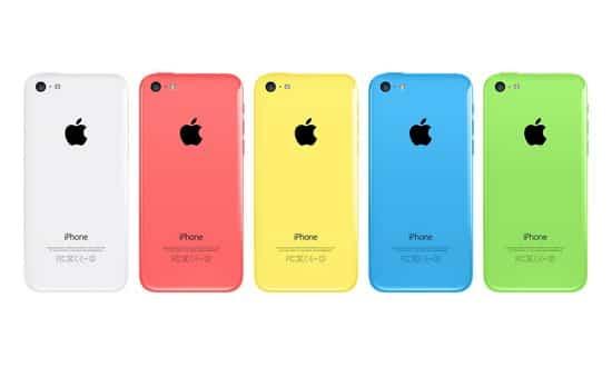 Las carcasas de colores del iPhone 5C