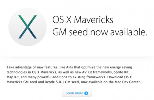 Mavericks OS X Golden Master 2 (500x200)