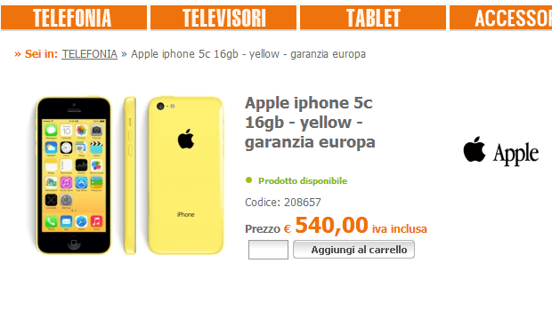 iPhone-5c precio