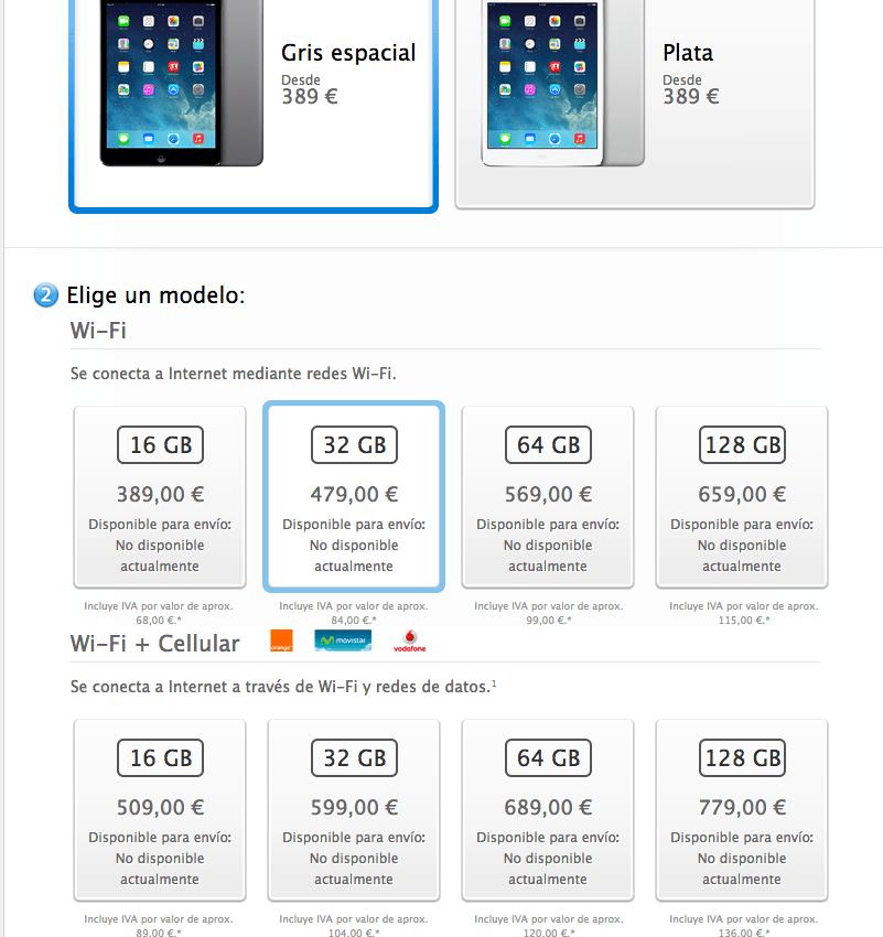 precios iPad mini 2