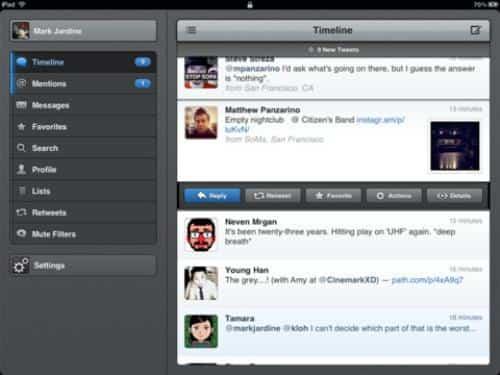 Twitter en iOS 7, dos clientes de lujo: Twitterrific y Tweetbot 2