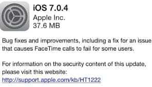 iOS 7 0 4