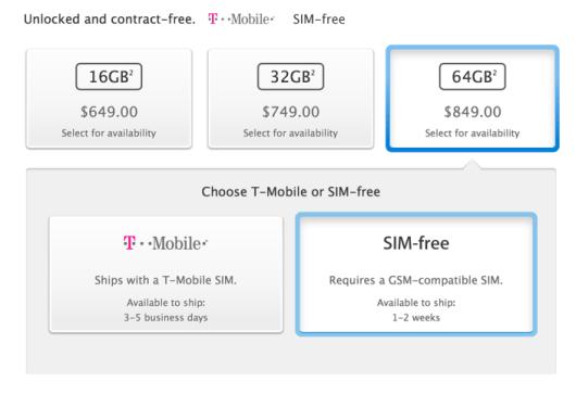 precio dolares iPhone 5s
