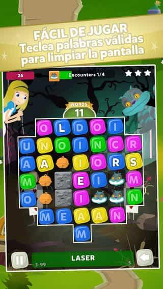 Nuevo juego para iOS de Alicia en el país de las palabras 2
