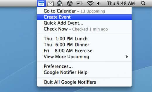 Google Notifier desaparece de Mac 2