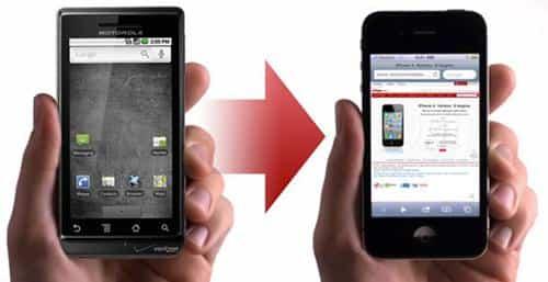 Contactos de Android a iPhone 1