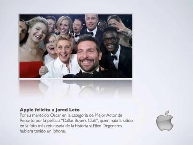 Selfie Apple Jared Leto 2
