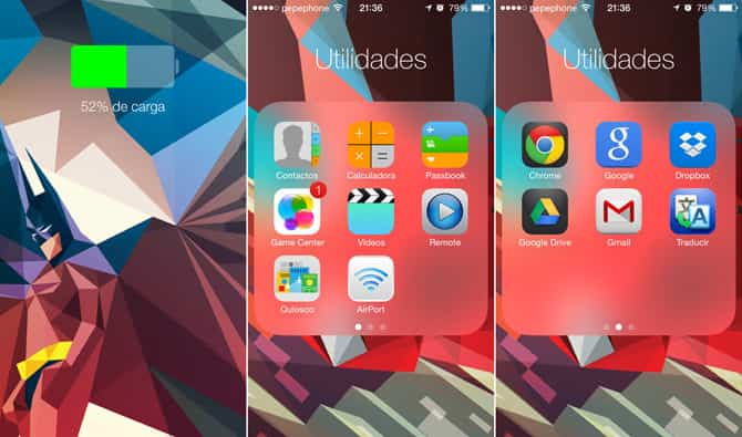 anidar carpetas en iOS 7 2