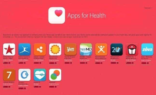 Aplicaciones Salud iOS 8