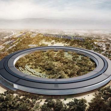 Un dron filmó la construcción del Campus 2 de Apple