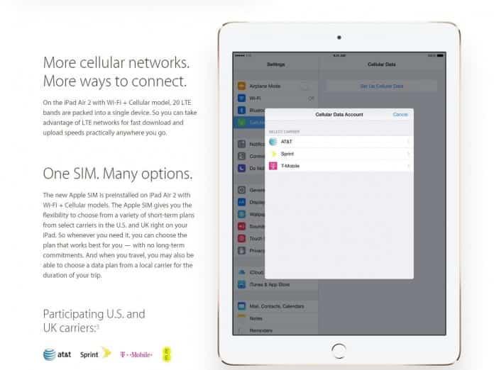 Apple SIM, ¿cómo funciona la gran novedad del iPad Air 2? 2