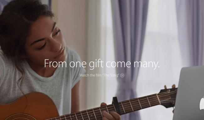 Nuevo anuncio navideño de Apple, The Song 2