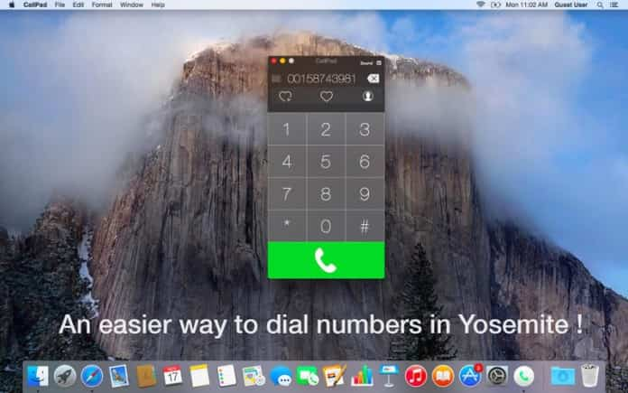 App para Mac CallPad, para realizar llamadas telefónicas 2