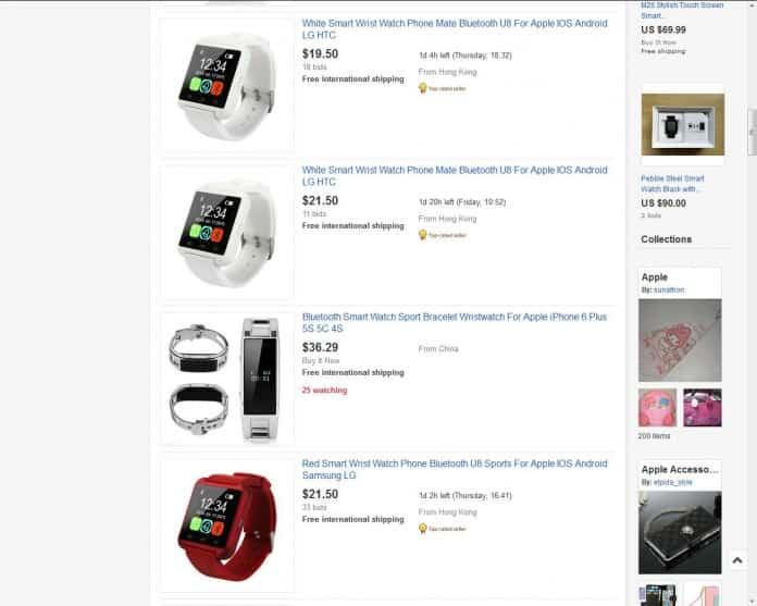 Apple Watch falso está siendo ofrecido en eBay 2