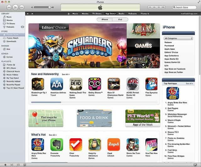 Colapso de apps en la App Store