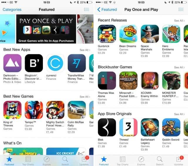 La App Store ahora destaca juegos de un pago único 2