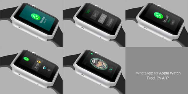 Imágenes conceptuales de WhatsApp en Apple Watch 2