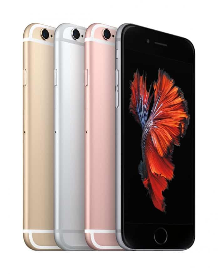 colores oro, plata y rosa del iphone 6s