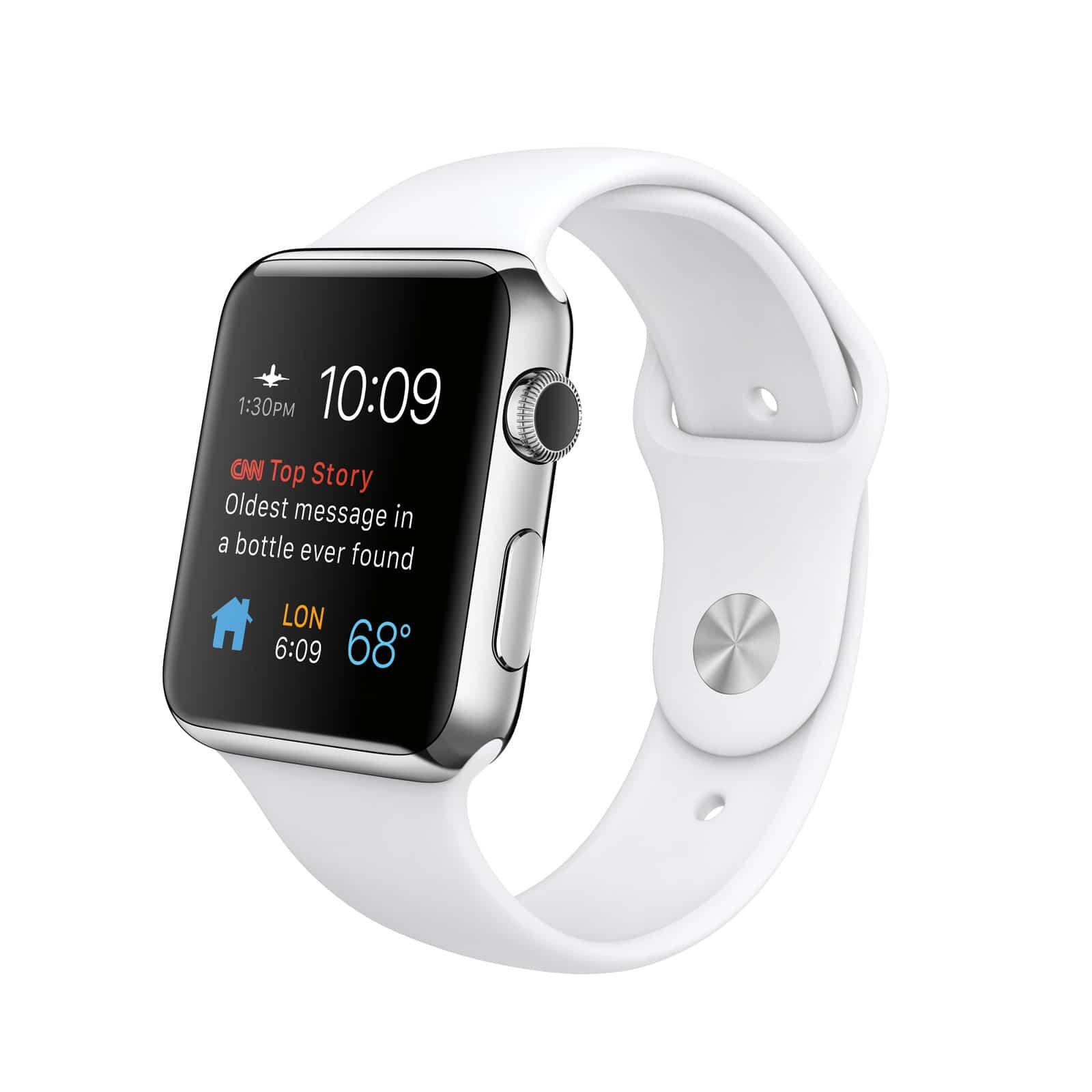 Interfaz del nuevo modelo de AppleWatch color blanco