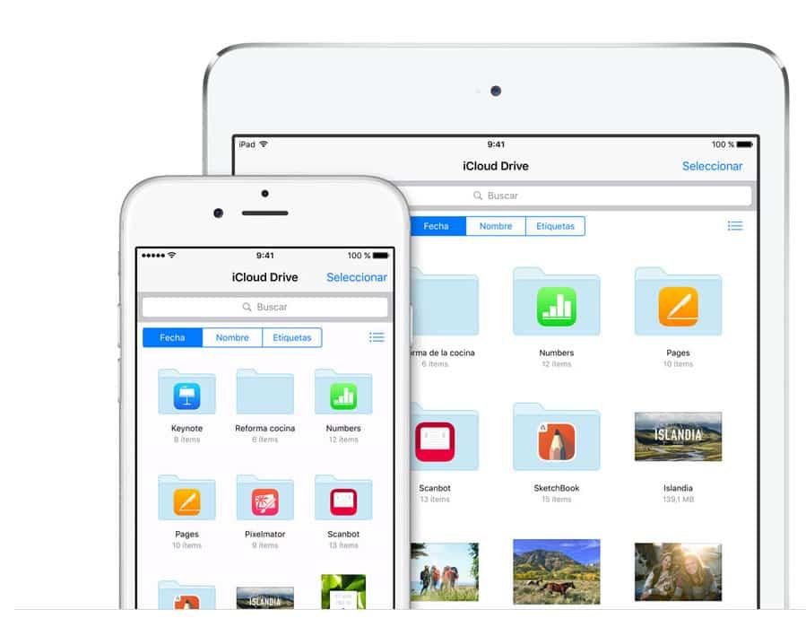 Captura de App iCloud Drive