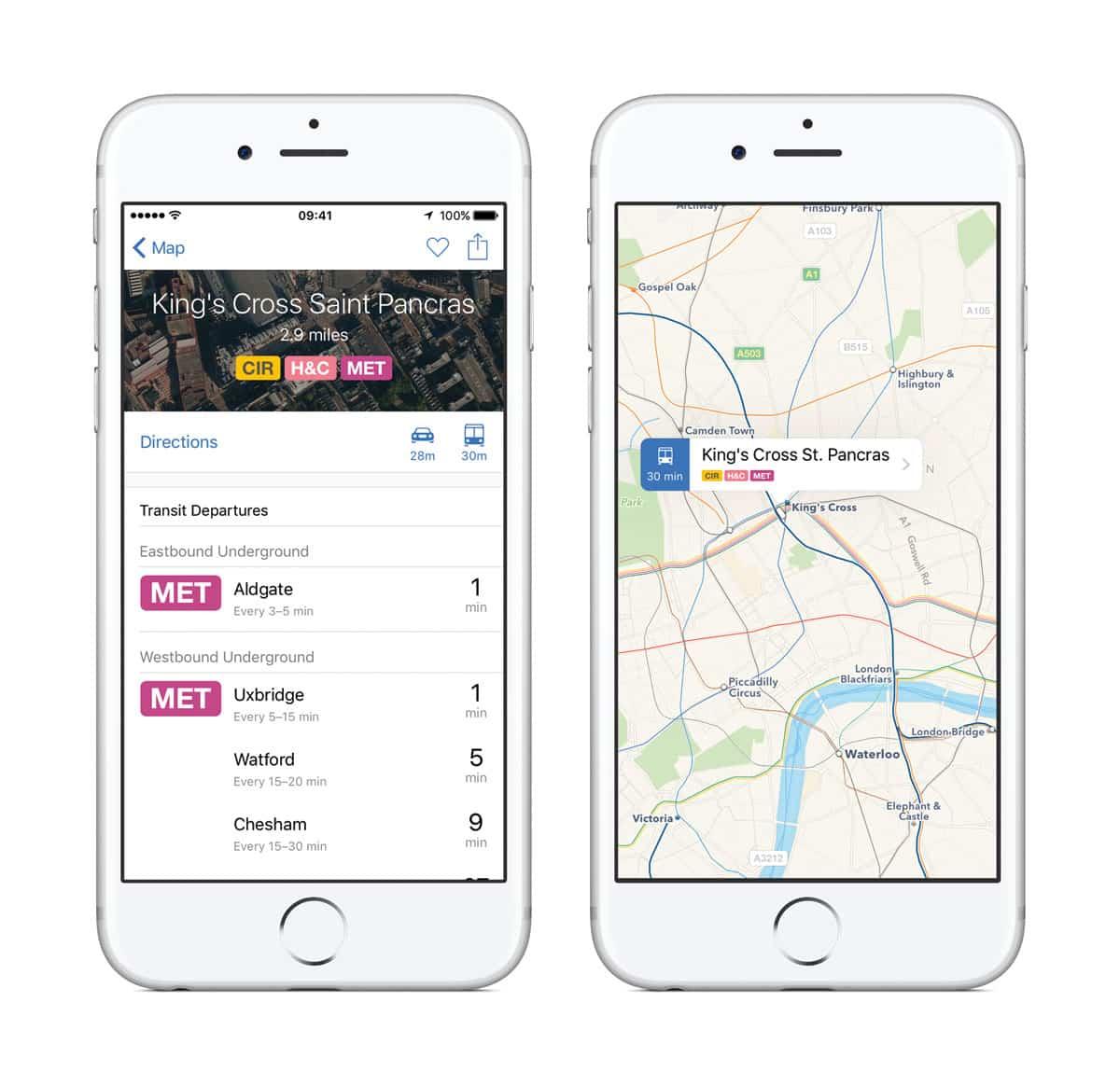 Apps Mapas novedad en iOS 9