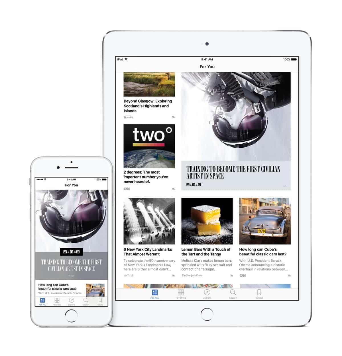Apps News, Apps Notes...las nuevas apps de iOS 9