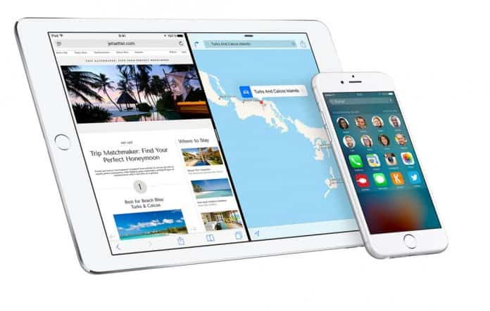 iPad Pro y iPhone 6s con iOS 9