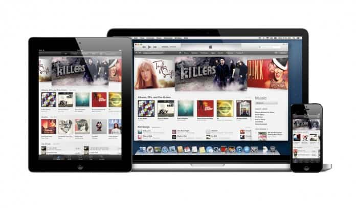 iTunes en iPad, iPhone 5 y MacBook Pro