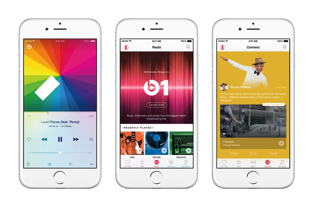 Reproducción de vídeos musicales de Apple Music en iPhone 6