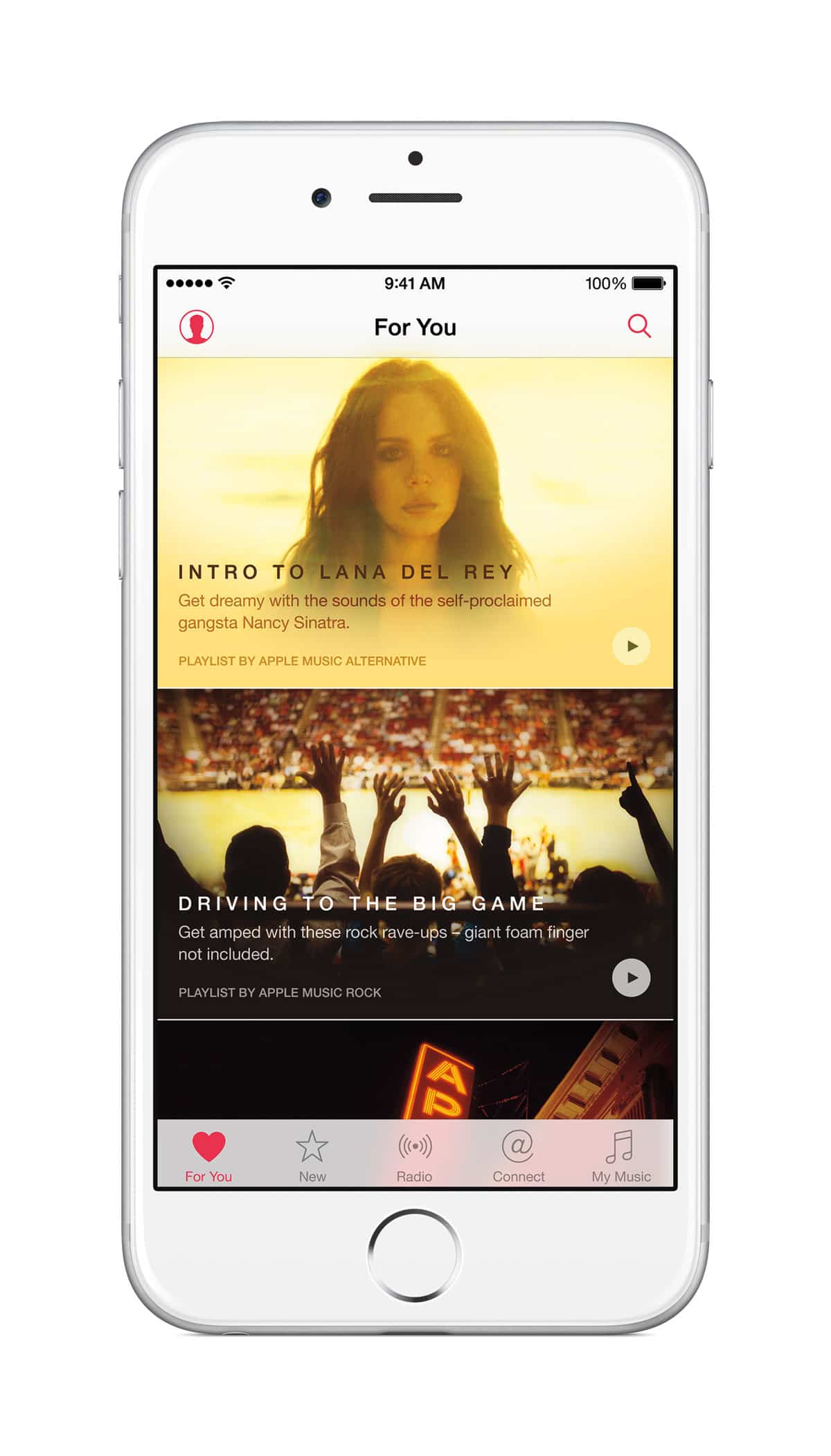 Reproducción de vídeo musicales de Apple Music en iPhone 6