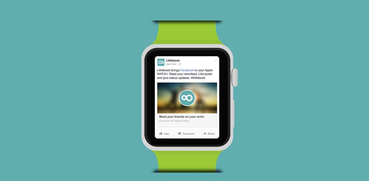 facebook en el apple watch
