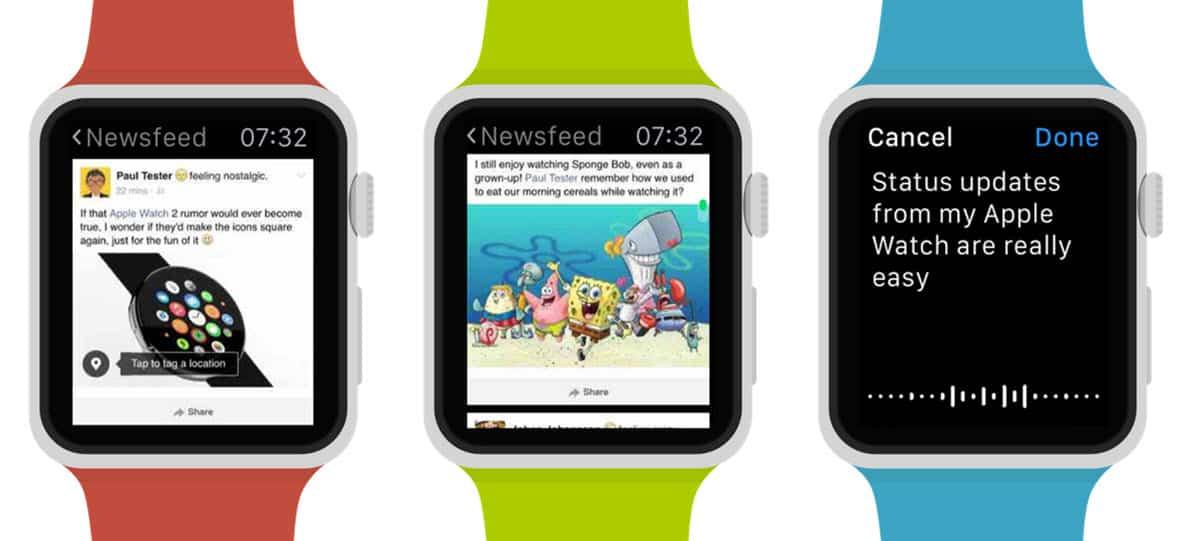 facebook en el apple watch