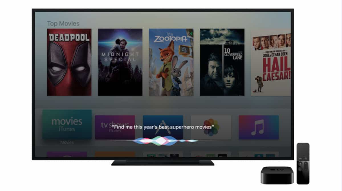 siri en apple tv