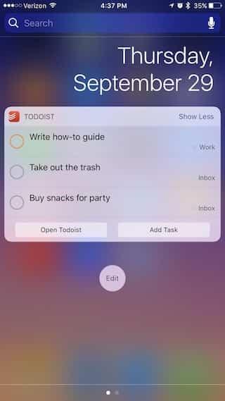 Los 14 mejores widgets para iOS 10 13