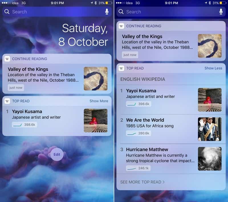 Los 14 mejores widgets para iOS 10 6
