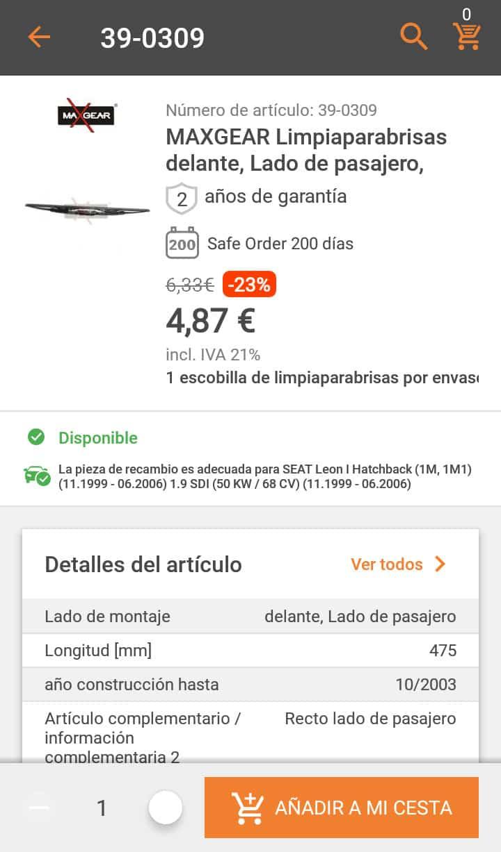 AUTODOC, una app donde encontrar recambios para tu vehículo 14