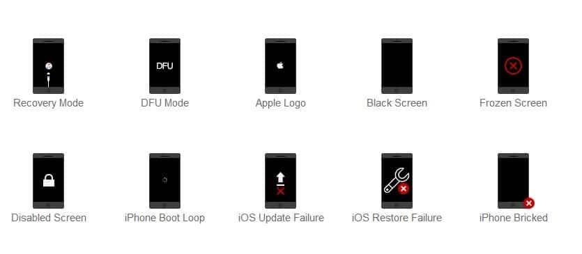 TunesKit IOS System Recovery para solucionar problemas graves de iOS 9