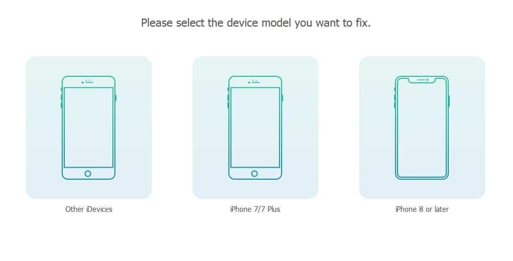 TunesKit IOS System Recovery para solucionar problemas graves de iOS 12